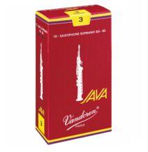 VANDOREN Java Filed Red Cut szoprán szaxofon nád