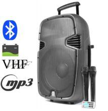 Vonyx SPJ1500ACCU 700w 2xMik + MP3 + Bluetooth akkumulátoros hordozható aktív hangfal