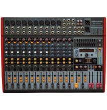 Voice-Kraft UFX16 10 mik.8 monó, 2 mono/sztereó és 2 sztereó csatornás keverő