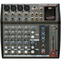 Phonic AM440DP 100EFX  4 mikrofon, 2 sztereó / USB keverő