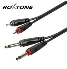 Roxtone RACC150L3 2×6,3 Jack – 2xRCA, 3m