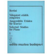 Bertini, Henri: Válogatott etűdök zongorára 1