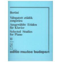 Bertini, Henri: Válogatott etűdök zongorára 2