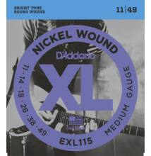 D'Addario EXL-115 Nickel Wound, 011-049