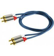 HOME A-3 Audió kábel, 2 RCA fém dugó-2 RCA fém dugó 1m