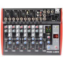 Power Dynamics PDM-L605 6 csatornás MP3 + Effekt zenekari keverő