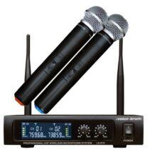 Voice-Kraft LS970 UHF kézi mikrofon szett, 2 mikrofonnal