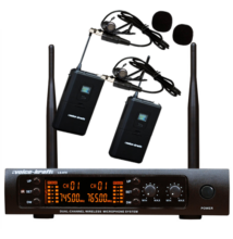 Voice-Kraft LS970 UHF zsebadós mikrofon szett 2 db csíptetős mikrofonnal
