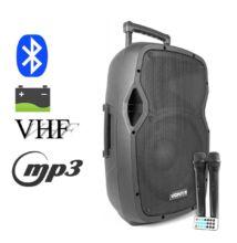 Vonyx AP1500ACCU 800w 2xMik + MP3 + FM + BT akkumulátoros aktív hangfal