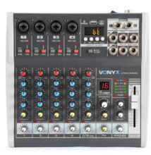 Vonyx VMMK602 - 6 csatornás Bluetooth + Effekt + REC felvétel  zenekari keverő