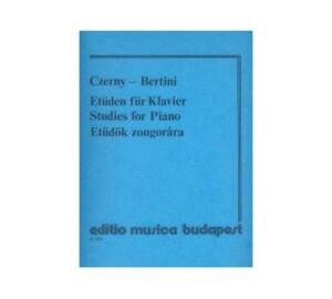 Czerny : Etüdök zongorára ( Régi kiadás)