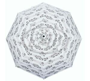 Fehér, kotta mintás összecsukható esernyő átmérője 100 cm