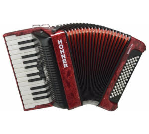 HOHNER Tangóharmonika, Bravo II 60, piros