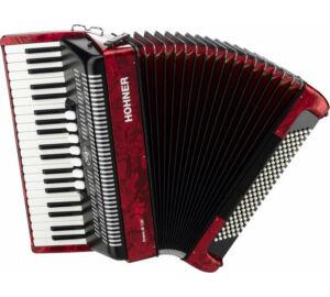 HOHNER Tangóharmonika, Bravo III 120, piros