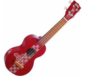 Mahalo MK1BA-TRD puhatokkal Transparent Red szoprán ukulele