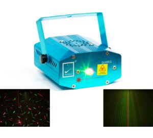 M-LED FF-16 Multipoint, firefly lézer fényeffekt – RG (2 szín) hang / automata vezérlés (160mW)