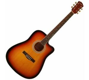 Pasadena SG028CE Vintage Sunburst elektroakusztikus gitár