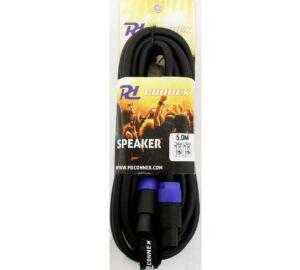 PD Connex (Speakon - Speakon) (2x2,5mm2) + tépőzár Prémium hangfalkábel 5m