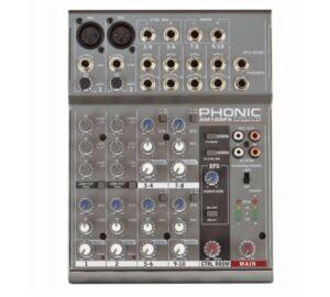 Phonic AM105FX Keverőpult, 2 Monó /4 Sztereó csatorna