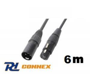 Power Dynamics Connex XLR m - XLR p PREMIUM mikrofonkábel 6m