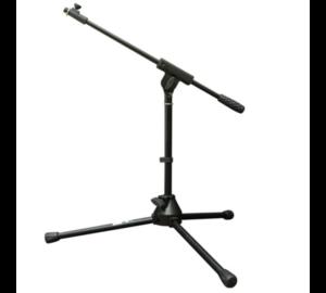 Voice-Kraft V-MS009 Alacsony mikrofon állvány(50 cm),fekete teleszkópos gémmel