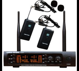Voice-Kraft LS-970 UHF zsebadós mikrofon szett 2 db csíptetős mikrofonnal