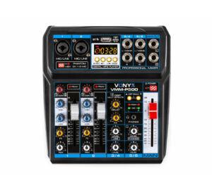 Vonyx VMM-P500, 6 csatornás zenekari keverő, USB, Bluetooth, DSP Effekt, REC felvétel