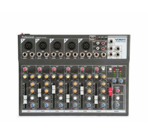 Vonyx VMM-F701 -7csatornás MP3 + Effekt zenekari keverő