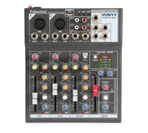Vonyx VMMF401 MP3 + Effekt 4 csatornás zenekari keverő