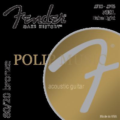 Fender 70XL 010-048 akusztikus húr