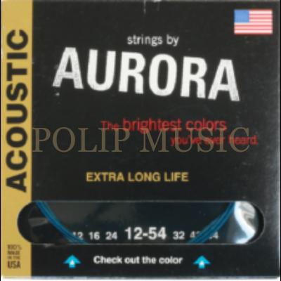 Aurora 12S Blue 012-054 akusztikus húr