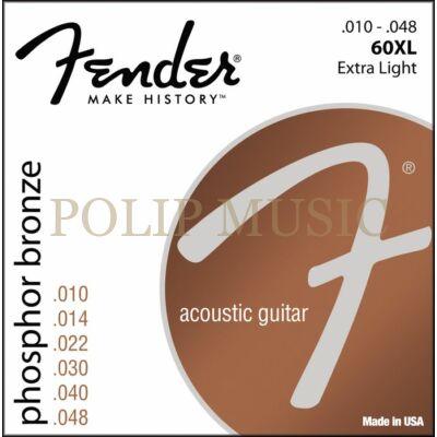 Fender 60XL Extra Light 010-048 akusztikus húr