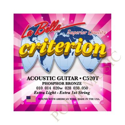 LaBella C520T Extra Light 010-050  akusztikus húr