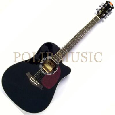 Uniwell CD-08 BK akusztikus gitár