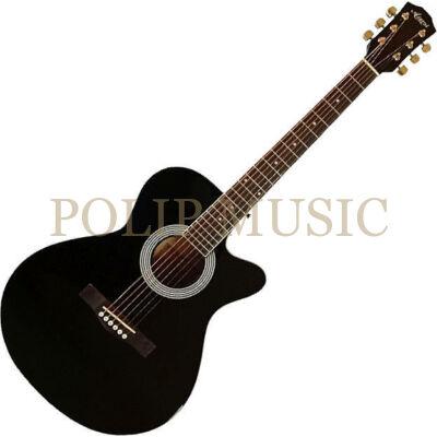 Aiersi SG026C-38 Black mini jumbo akusztikus gitár