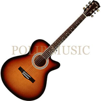 Aiersi SG026C-38 Vintage Sunburst mini jumbo akusztikus gitár
