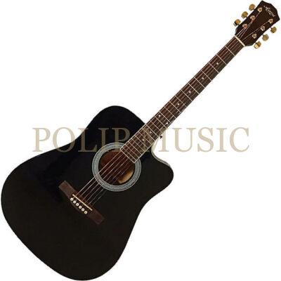Aiersi SG028C Black  akusztikus gitár