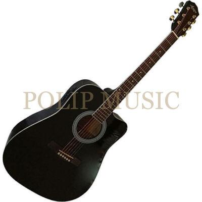Aiersi SG028CE Black elektroakusztikus gitár