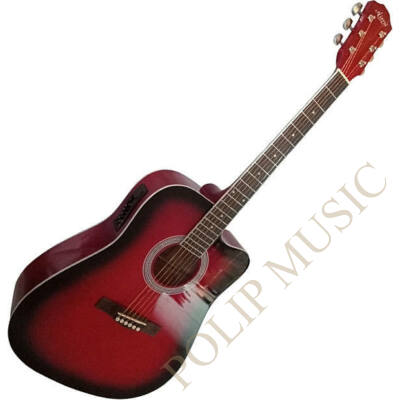 Aiersi SG028CE Red Sunburst elektroakusztikus gitár