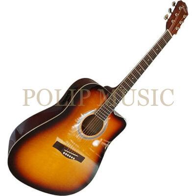 Aiersi SG028CE Vintage Sunburst elektroakusztikus gitár