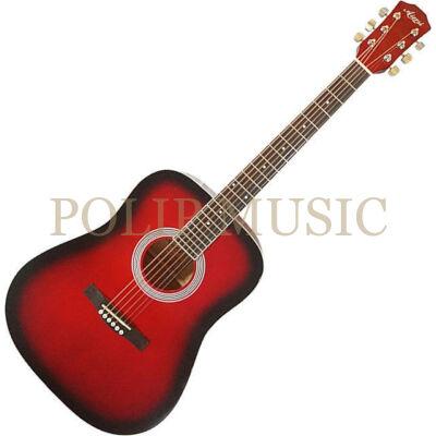 Aiersi SG028 Red Sunburst akusztikus gitár