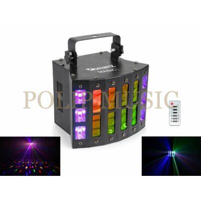 BeamZ Magic1 (9x3W) RGBAWP 24 optikás + UV + Stroboszkóp DMX derby fényeffekt