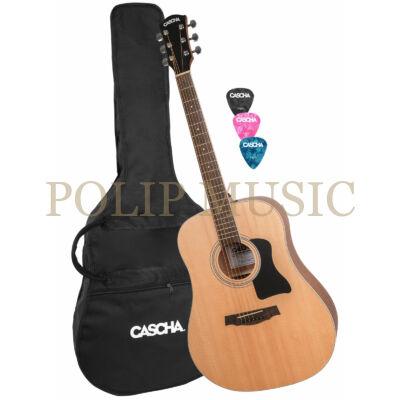 Cascha HH 2080 Dreadnought Acoustic Guitar Set