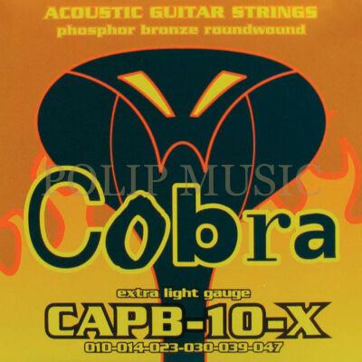Cobra CAPB-10-X Phosphor Bronz Extra Light 010-047 akusztikus húr
