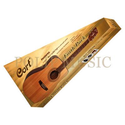 Cort Earth Pack 4/4 Natur akusztikus gitár szett