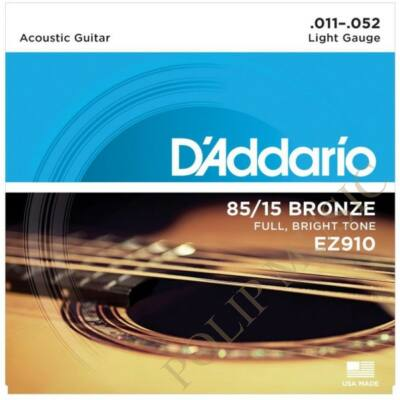 D'Addario EZ910 Light tension 011-052 akusztikus húr