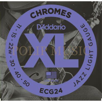 D'Addario ECG24 Jazz Light 011-050 elektromos gitárhúr
