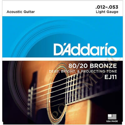 D'Addario EJ11 Light Tension 011-053 akusztikus húr