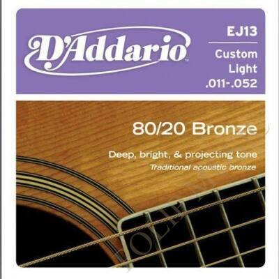 D'Addario EJ13 Custom Light 011-052 akusztikus húr