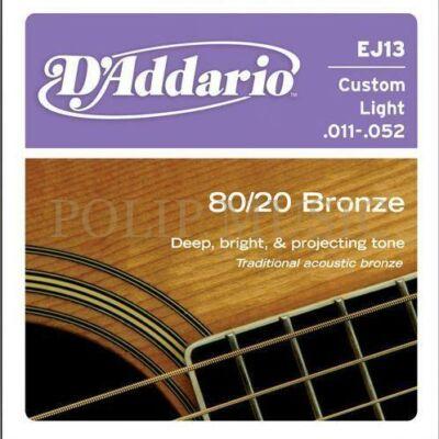 D'Addario EJ13 Custom Light 011-052 akusztikus húr